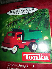 2000 HALLMARK Keepsake TONKA DUMP TRUCK 1953 Replica CHRISTMAS ORNAMENT New