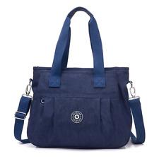 Women's Multi-Pocket Casual Handbags Waterproof Nylon Top-Handle Bag Messenger C