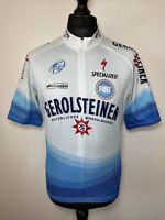 Torralba Gerolsteiner UCI Pro Tour Blue Cycling Shirt Jersey Short Sleeve XXL