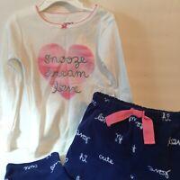 Carters Toddler Girl 4T Pajama Set Fleece Heart Design New