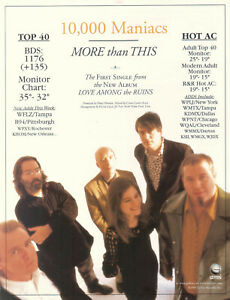 10,000 Maniacs 1997 Ad- More Than This  Advertisement WPPLJ WMTX KDMX WPNT WQAL