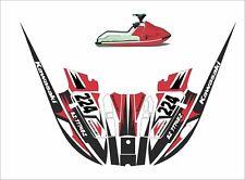 kawasaki 650 x2   jet ski wrap graphic pwc decals decal kit 1985 1995 racing red