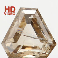 Natural Loose Diamond Antique Brown Color I1 Clarity 4.65 MM 0.46 Ct N7011
