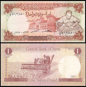 Syria 1 Pound 1977 P-99s - VERY RARE - XF