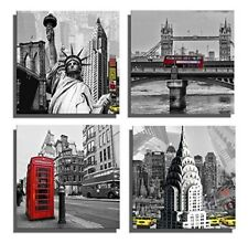 London Bridge Telephone Taxi Canvas Prints Scenery Pictures Wall Art Painting UK