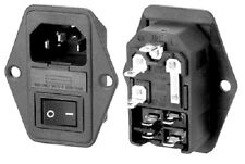 IEC Fused and Switched Chassis Inlet Panel Mounting UK Stock IEC Socket