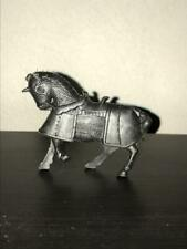 Marx Medieval Horse Standing. 54mm Scale Black Plastic. 1950s - 1960s