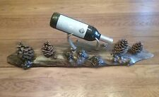 Rustic Wine Bottle Stand