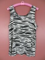 STK2331-CHICO'S TRAVELERS Womens Slinky Travel Knit Tank Top Multi-Color 3 L XL