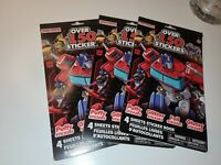 Set of three Transformers Sticker Sheet Books with 150 Stickers Per Book