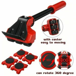 Heavy Duty Furniture Lifter Transport Tool Furniture Mover set 4 Move Roller 1