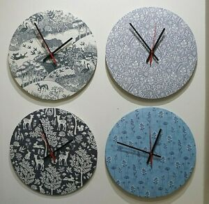 Handmade fabric clock - Makower - range of patterns