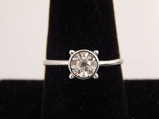 VINTAGE .20 Old Mine Cut Diamond Solitaire Engagement Ring G/VS1 eye clean14k WG