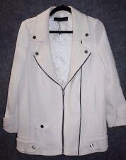 Zara Womens Ivory Jacket Blazer Zippers Size Medium a8e9b6dd2
