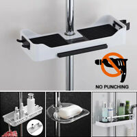 Adjustable Bathroom Shower Caddy Shelf Corner Bath Rack Storage Holder Organizer
