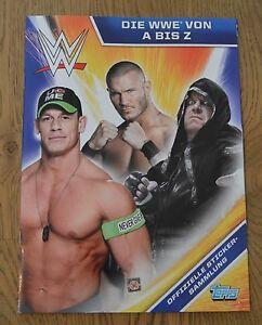 Topps Sticker die WWE von A bis Z Leeralbum Album World Wrestling Entertainment