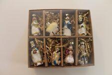 NIB Pottery Barn Set of 8 Mini Nativity Glass Blown Ornaments Christmas Holiday