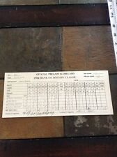 1984 Brad Faxon signed auto official golf scorecard Bank of Boston Classic Pro-A