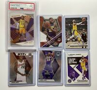 Lebron James Lot With PSA Graded 9 Lakers