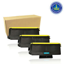 3 High Yield TN650 Black Toner Cartridge For Brother MFC-8480DN 8890DW HL-5370DW