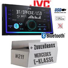 JVC Autoradio für Mercedes E-Klasse W211 Bluetooth MP3 USB PKW KFZ Einbauset