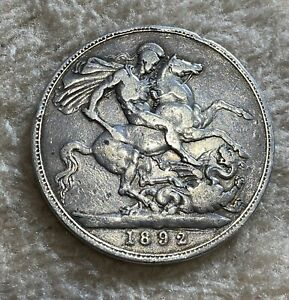 Victorian Silver Crown. 1892.