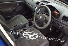 Se adapta a T5 Transporter VW Gris Oscuro Italian Leather cubierta del volante 2003-2009