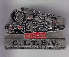 RARE PINS PIN'S .. TRAIN RAILWAYS SNCF LOCOMOTIVE 141R568 CITEV VAPEUR  3D ~C6