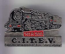 RARE PINS PIN'S .. TRAIN RAILWAYS SNCF LOCOMOTIVE 141R568 CITEV VAPEUR  3D ~C6