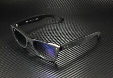 RAY BAN New Wayfarer RB2132 62423F Black Alcantar Blue Grad 52 mm Sunglasses