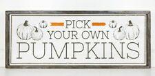 "HUGE 36""x14"" Pick Your Own Pumpkin Sign, Fall Decor, Thanksgiving Wall Decor"