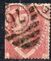 1870 SG 52 1½d lake-red 'LG' Plate 3 with London Duplex Cancellation Good Used