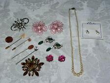11Pc Vintage Rhinestone, Pearl Jewelry Lot-Richeleau/Krementz/Other-Beautiful!