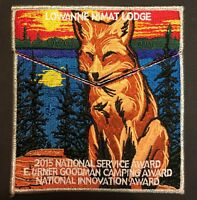 LOWANNE NIMAT LODGE 219 BSA 2015 OA CENTENNIAL SERVICE AWARD FLAP 2-PATCH TOUGH!