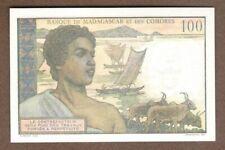 rare BILLET 100 francs madagascar / comores unc / neuf