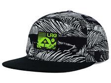 "LRG ""Force of Nature"" Snapback Cap (Black/White/Lime Green) Adjustable Hat - NEW"