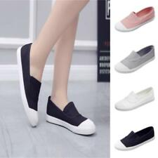 Fashion Women Girls Canvas Shoes Casual Slip On Flats Loafer Leisure Sneakers JJ