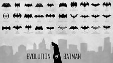 POSTER-evoluzione di Batman 1940 -- 2012 (Picture SUPEREROE MARVEL Comic-Con)