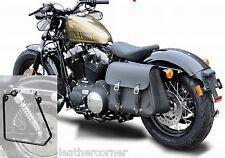 "Sacoche de selle ""Boston"" 20 L à gauche Harley Davidson, sportster, déballer cendres + support"