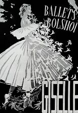 ART POSTER Bolshoi Ballet Giselle Danza Stampa