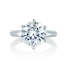 1.89CT Round Enhanced Diamond Solitaire Engagement Ring In 14K W Gold Certified