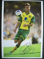 Ricky van Wolfswinkel Norwich City, 12 x 8 inch photo personally signed by him.