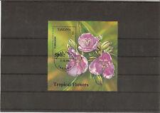 TANZANIE 1994 FLEURS TROPICALES BLOC OBLITERE YT 248