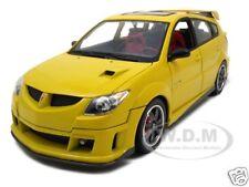 2003 PONTIAC VIBE GTR YELLOW 1:18 DIECAST MODEL CAR BY ROAD SIGNATURE 92508