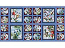 Songbird Serenade aves Paneles Algodón Colchas de retazos de tela - 20 paneles - 2 Tamaños