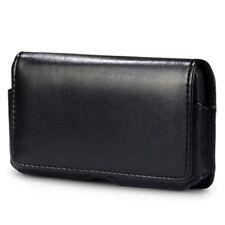 Funda Clip Cinturon hTC Sensation XL Cuero Negra negro TY