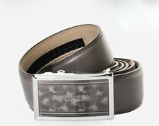 High Quality Leather Belt With Automatic Buckle in Grey by Foxer Laorentou