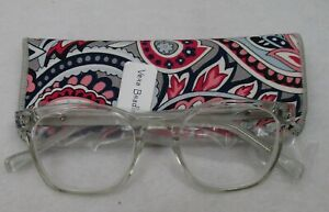 Vera Bradley Kinsley  Reading Glasses Gramercy Paisley Pattern 2.00