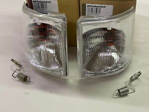 Land Rover Discovery I 1 94-99 White Clear Front Indicator Lamp Light Set New
