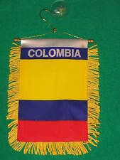 "COLOMBIA FLAG MINI BANNER 4""x6"" CAR WINDOW MIRROR NEW"